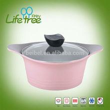 7pc die-casting aluminum korea marble cookware set
