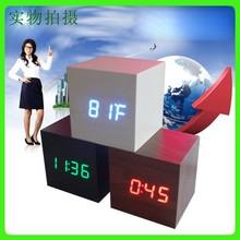 Digital clock home decor LED clcok fashion wood clock table clock with high quality