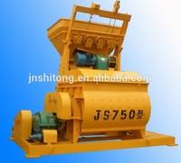 Double horizontal shafts auto ready concrete mix equipment JS1000 concrete mixer