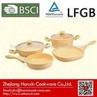 cookware set cream ceramic coating