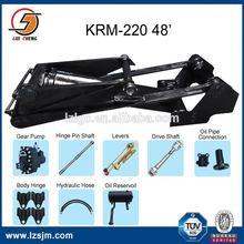 Piston rod 100mm KRM heavy duty hydraulic ram unit for dump truck
