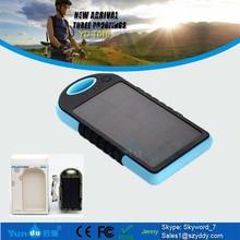 12000mah Factory price portable waterproof IPX6 solar mobile phone power banks