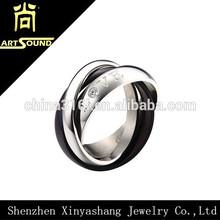 Fashion custom stainless steel wedding ring set