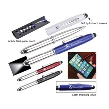2014 Good quality 4 in 1 metal touch stylus pen