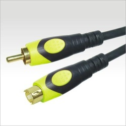 youtai newest 4.3mm yellow audio cable rca 1.8m gold connection male to female