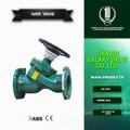 Fijo orificio de gas de doble válvula de regulación con válvula de equilibrado