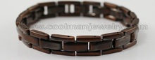 new design wholesale 316l stainless steel bracelet coffee color