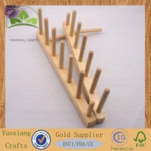 wooden rack made of rubber wood for dish kitchen using