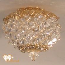 dollhouse 1:12 scale miniature crystal ceiling light