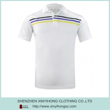 Dri fit with high quality polo shirt White color polo shirt with stripes design