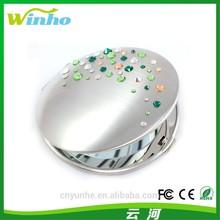Winho green crystal handbag mirror