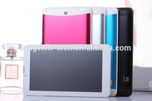 hot sell 7 inch smart android tablet pc MTK6572 3g dual core metal case with leather cover 1G/8G wifi FM GPS BT 0.3M/2.0 camera