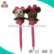 Funny Felt Fabric Customed Soft cheap price wholesale plush bear ballpoint pen