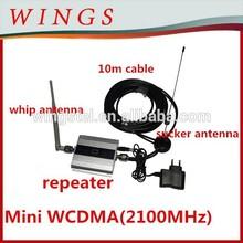 Toptan güçlendirici power2100mhzmini WCDMA sinyal repeater+power adaptor+outdoor enayi anten 10m cable+indoor çubuk anten