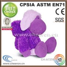 World sweet and softer stuffed purple sheep