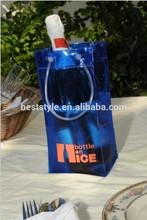 Strong plastic wine bottle pvc ice cooler bag