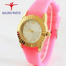 Fashion wrist watch silicone with jelly-colour