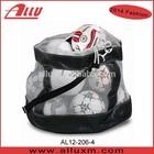 Large volume ball bag football soccer mesh net bag