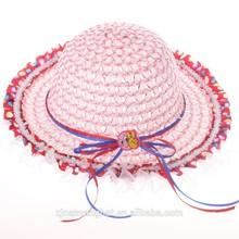 wholesaler children straw beach hat ,straw boaters,kids hat