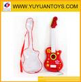Guitarra bateria operado w/luz& música 3 asst guitarra elétrica