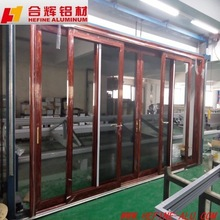 Good quality aluminum sliding door with German hardware and double glass