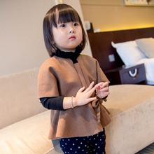 MS60614C kids girl England style nude color tunic korean style winter coats