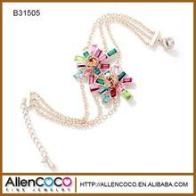 New Model Arab Designs Shamballa Colorful Flower Bracelets