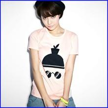 Fashion style promotional tshirt design 50% cotton 50% polyester custom tshirt printing women tshirt