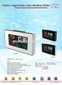 Termo higrómetro de color de la estación meteorológica digital reloj de mesa( negativos dispaly)