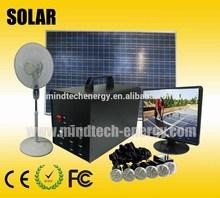 solar kit solar lighting and mobile charging kit with 6pcs 3w superbright LED lights