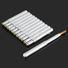 Silver Alloy Automatic Portable Retractable Makeup Cosmetic Lip Liner Brush Pen