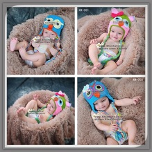 Free shipping crochet owl funny kids hat bonnets crochet kint patterns baby hats for free