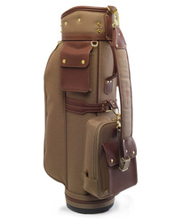oxford fabric with genuine leather trim golf bag golf stand bag