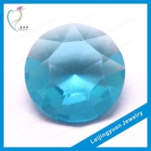 Cheap round blue glass stones for jewelry
