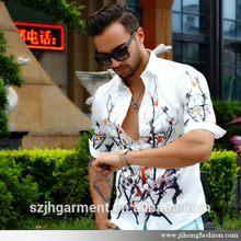 Customized useful korean fashion short sleeves shirt