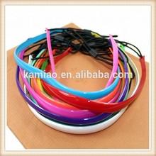 China bulk goody elastic sport silicone hair accessories plastic headbands with teeth