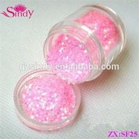 Nail Glitter Powder Pink Color Acrylic Nail Powder