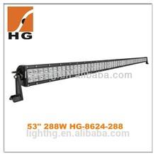 HG-8624-288 Factory Supply 50 Inch Led Light Bar 288 Led Light Bar High Brightness Car Parts