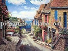 Handmade Sung Sam Park drawing pictures,landscape oil painting