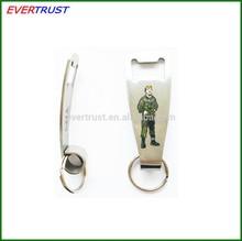 hot sale bottle opener keychain custom stainless steel keychain