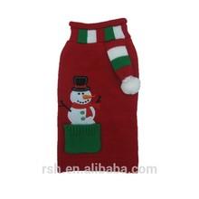 New design Xmas snowman&scarf animal accessories RSH2119