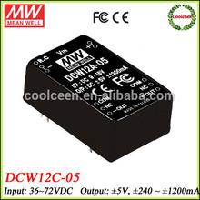 Meanwell 55v dc to 5v -5v dc converter 12w DCW12C-05