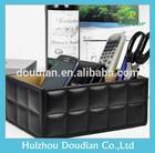 Multifunction Leather Book Desk Organizer