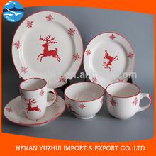 Christmas ceramic dinnerware set, porcelain dinner sets USA style 20 pieces