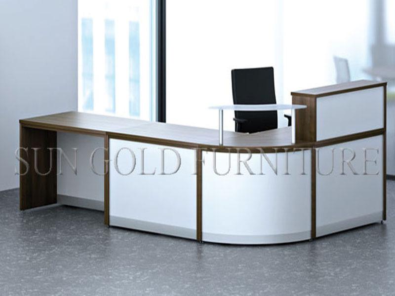 Modern Wooden Office Furniture Round Reception Desk White Reception Desk Sz