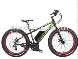 "26"" fat tire 48v 500w 8 fun central-driven motor snow electric bike for snow field & beach"