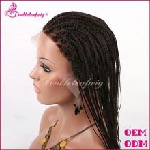 Fashionable Brazilian human hair micro braids full lace wig/lace front wigs