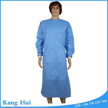 China Brand Name Healthcare blue PP Anti-blood Medical Gown