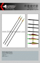 Factory wholesale Linkboy LBA007-1 Fiberglass arrow with glued-in target point for hunting 3 plastic vane Weight 33g+/-0.2g