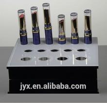 Luxury acrylic lipstick holder white and black acrylic with 15 pcs positions